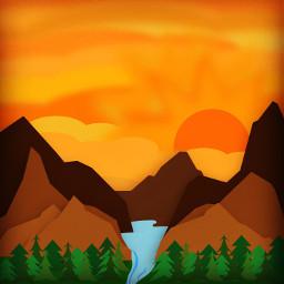 assemblyapp vector vectorart sunsets digitalart