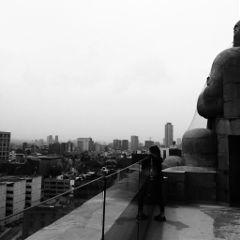 monochrome view city