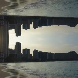 mirrored beach city