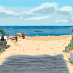 beach nature summer digitalart sketchbookpro