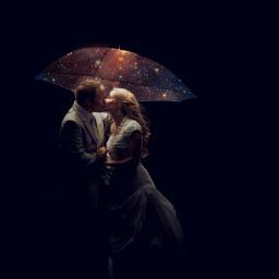 freetoedit galaxy kiss couple photography