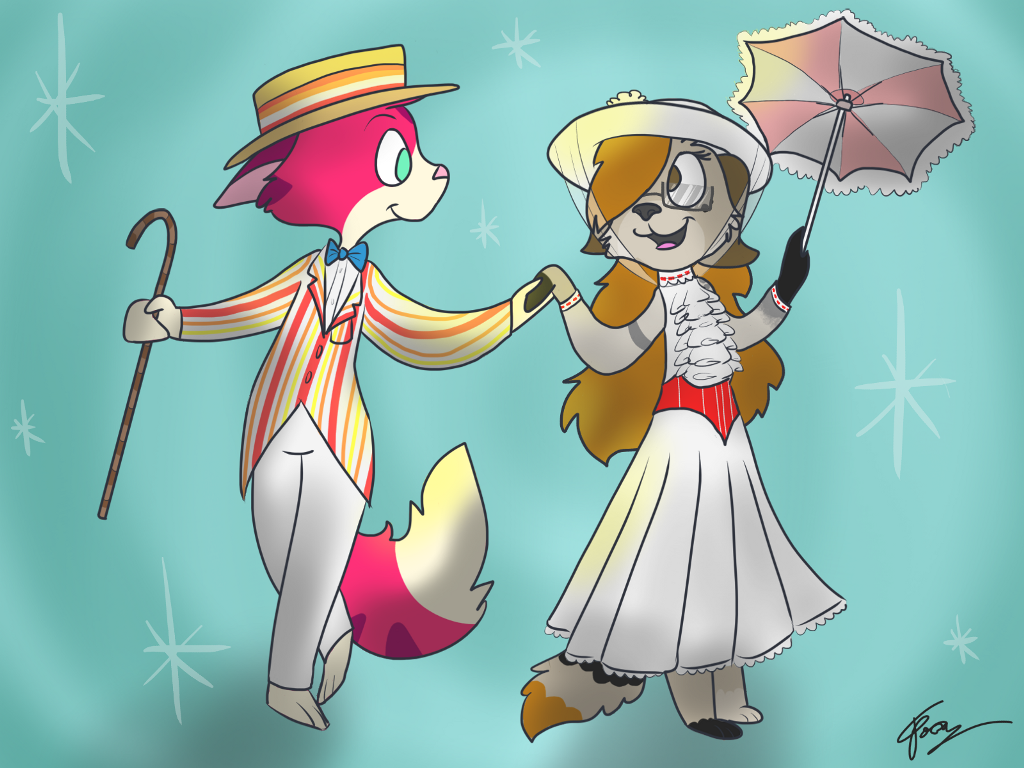 OKAY IM STILL SUPPOSED TO BE GONE BUT  isn't it @walley_2200 's birthday?   So I drew this cause  ITS A JOLLY HOLIDAY WITH MERRY  (get it? Cause her username used to be merryart?)  Anyway happy birthday and if I'm wrong welp a merry unbirthday to you