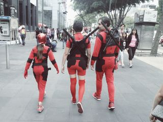 family sunday costume deadpool downtown freetoedit