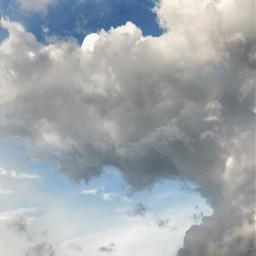 cloud sky nature emotions white freetoedit