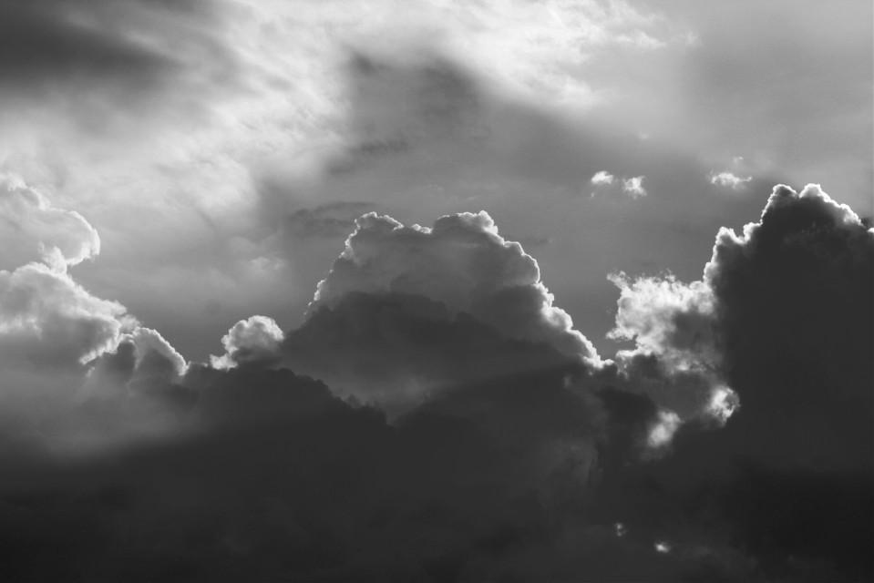 #FreeToEdit  #blackandwhite  #clouds