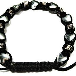 bracelet heart silver handmade macreme