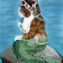 wdpshowmethesea tuna fish mermaid cat hello