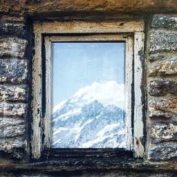 window winter