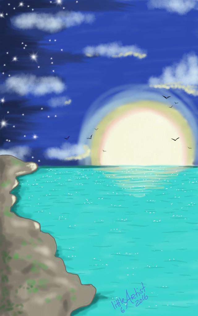#beach #colorful #summer #nature #digitalart #sketchbookpro #painting #artist #art #landscape  #ocean