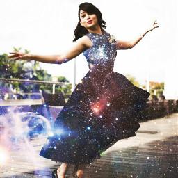 actresse dress girl galaxydress