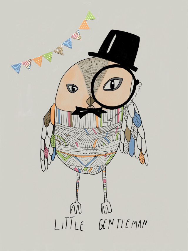 My little gentleman is available at my Etsy shop (www.etsy.com/shop/villustration)