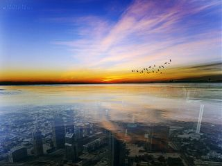 city landscape horizon madewithpicsart sunset freetoedit
