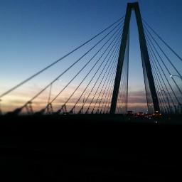 sunset charleston bridge colorful nofilter