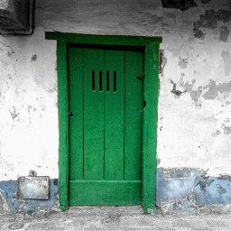 door green minimal vintage retro