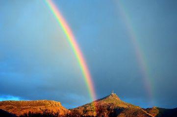 freetoedit rainbow sky colours landscape