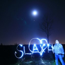 freetoedit lightpainting night moon