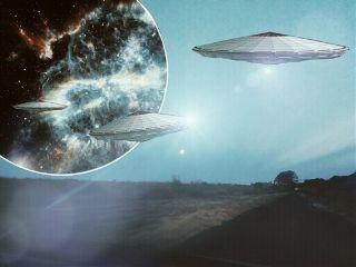 remixme space portal ufo landscape