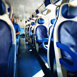 photography blue people travel train freetoedit