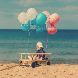 my_son eric balloon beach kid