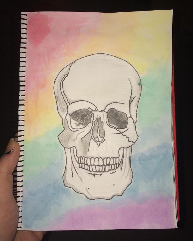 #art #drawing #skull