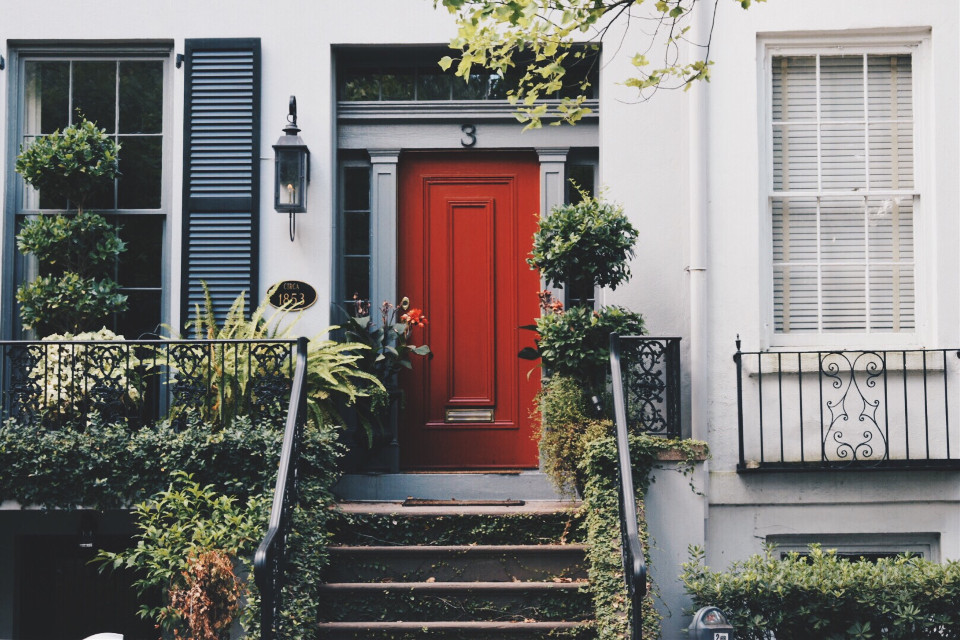 A Splash of Colour Makes the Difference. #architecture #red #colorsplash