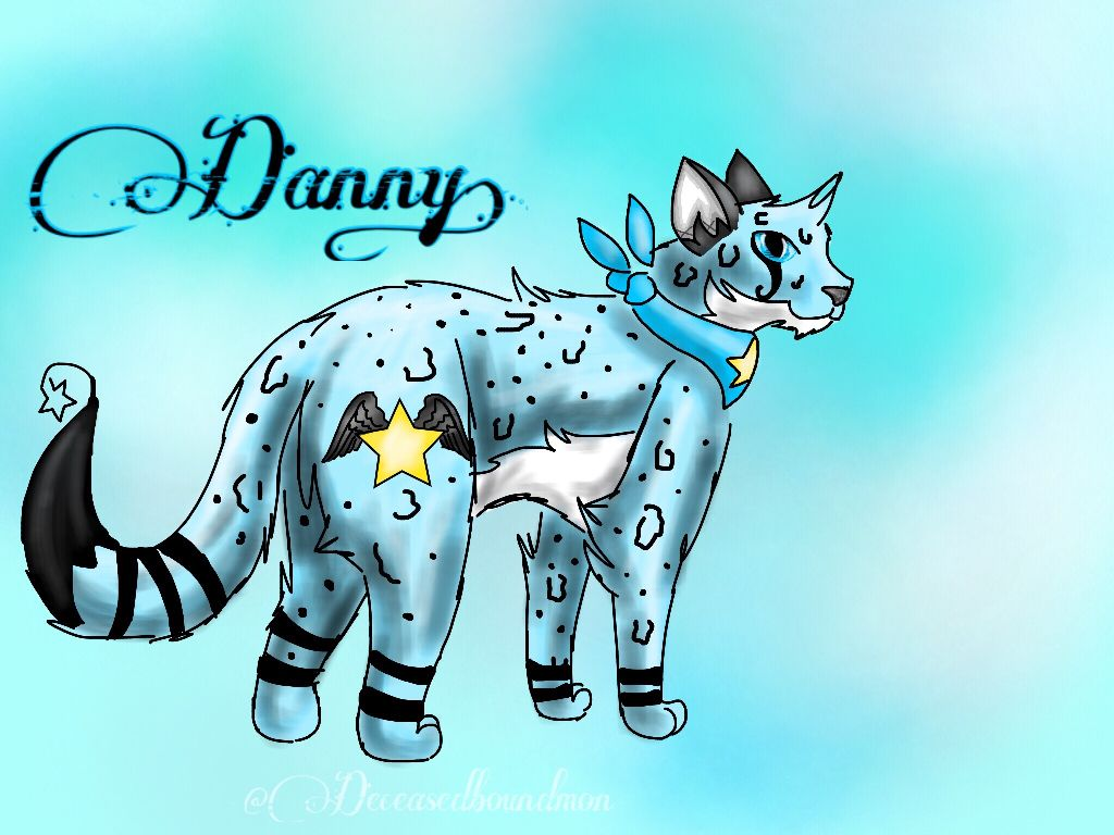 -⭐️-Danny-⭐️-   For: @dannythecheetah1910 for the amazing drawing of Akuma and Kari! ❤️   #deceasedboundmon #art #arts #draw #drawn #drawing #cat #cats #oc #ocs