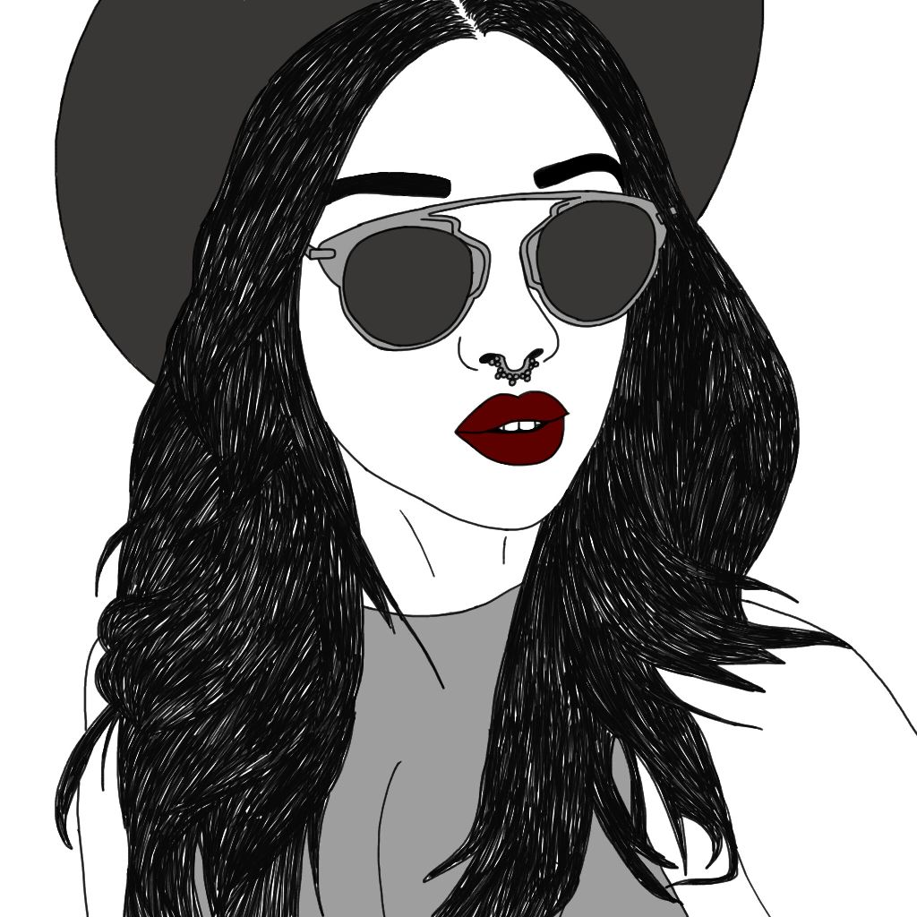 #Girl #sketch #digitalart #pencilart #blackandwhite #redlips #love #freetoedit #drawing #outline