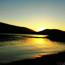 sunset dawn nature landscape sea