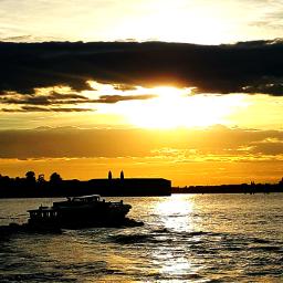 sunset veniceitaly