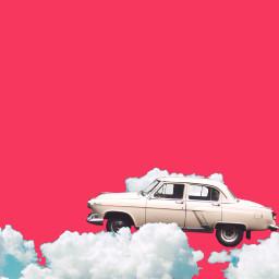 old car oldcar pink background freetoedit