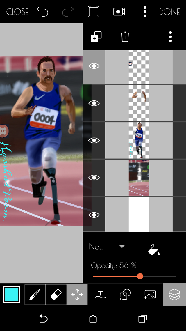 Step by step drawing#amputed#athelete