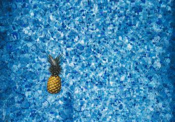 freetoedit water blue pineapple dots
