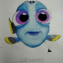 dory fish watercolor colorpencil inkinwater