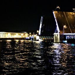 bridge palace river neva
