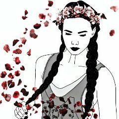 flower freetoedit woman white