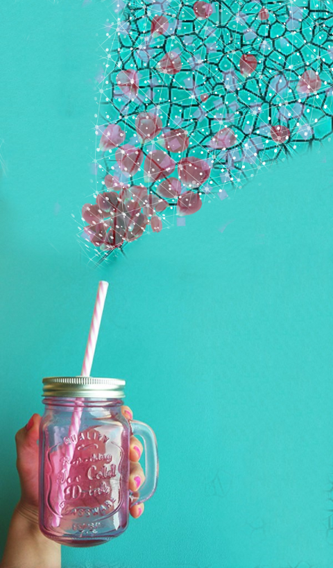 #freetoedit,#straw,#cup,#floatingflowers,#sparkle